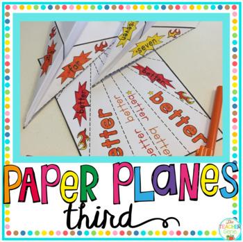 Sight Word Activity Paper Planes Third Grade