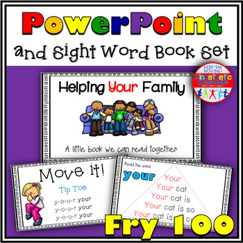 Sight Word Activity - PowerPoint & Emergent Reader Bundle Fry Sight Words 1-100