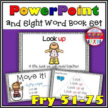 Sight Word Activity - PowerPoint & Emergent Reader Bundle Fry Sight Words 51-75