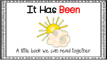 Sight Word Activity - PowerPoint and Emergent Reader for the sight word BEEN
