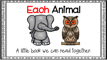 Sight Word Activity - PowerPoint and Emergent Reader for the sight word EACH