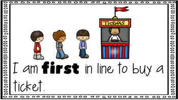 Sight Word Activity - PowerPoint and Emergent Reader for the sight word FIRST