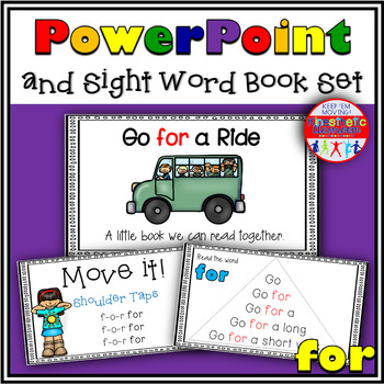 Sight Word Activity - PowerPoint and Emergent Reader for the sight word FOR