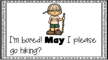 Sight Word Activity - PowerPoint and Emergent Reader for the sight word MAY