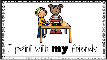 Sight Word Activity - PowerPoint and Emergent Reader for the sight word MY