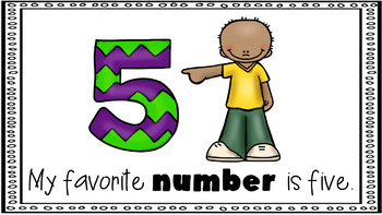 Sight Word Activity - PowerPoint and Emergent Reader for the sight word NUMBER