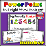 Sight Word Book and PowerPoint NUMBER