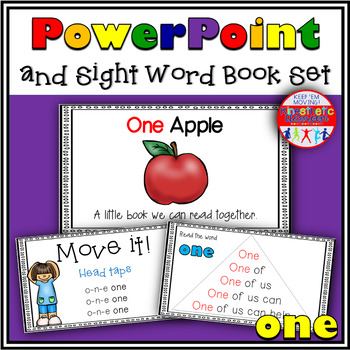 Sight Word Activity - PowerPoint and Emergent Reader for the sight word ONE