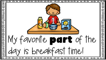 Sight Word Activity - PowerPoint and Emergent Reader for the sight word PART