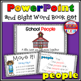 Sight Word Activity - PowerPoint and Emergent Reader for the sight word PEOPLE