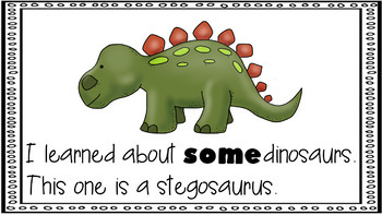 Sight Word Activity - PowerPoint and Emergent Reader for the sight word SOME