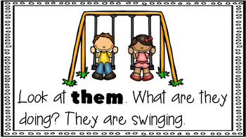 Sight Word Activity - PowerPoint and Emergent Reader for the sight word THEM