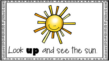 Sight Word Activity - PowerPoint and Emergent Reader for the sight word UP
