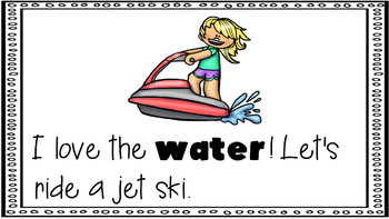 Sight Word Activity - PowerPoint and Emergent Reader for the sight word WATER