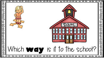 Sight Word Activity - PowerPoint and Emergent Reader for the sight word WAY