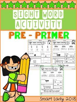 Sight Word Activity Pre Primer