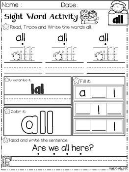 Sight Word Activity Primer