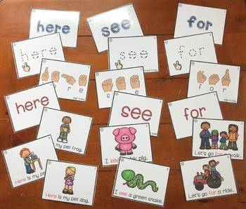 Sight Word Activity Ring Cards Pre-Primer