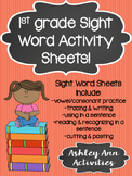 Sight Word Activity Sheets- 1st grade