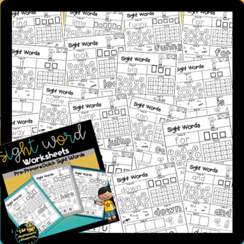 Sight Word Activity Sheets: Dolch Sight Words (Bundle)