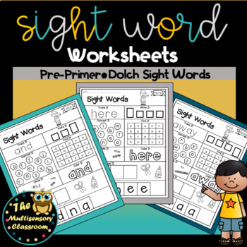 Sight Word Activity Sheets: Dolch Sight Words (Preprimer Edition)