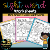 Sight Word Activity Sheets: Dolch Sight Words (Third Grade Edition)