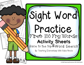 Sight Word Worksheets: First 100 Fry Words