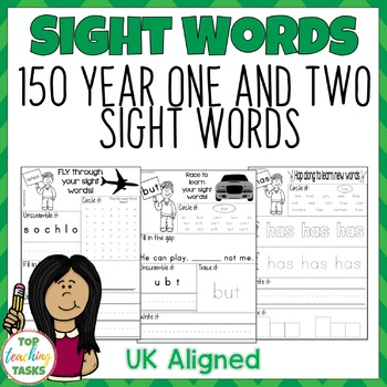 High Frequency Sight Word Activity Sheets Practice for Year One and Two UK