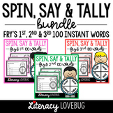 Sight Words Activity BUNDLE Fry's 1st to 3rd 100 Spin, Say