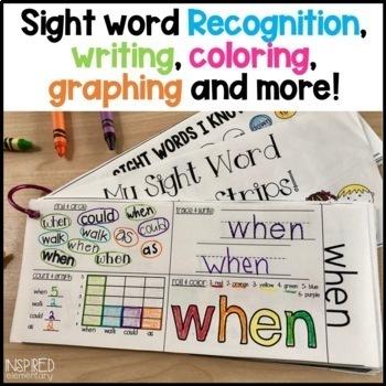 Sight Word Activity Strips BUNDLE!