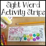 Sight Word Activity Strips BUNDLE!
