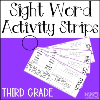 Sight Word Activity Strips: Third Grade Words