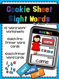 Read It, Build It, Write It Sight Words - Sight Word Center on a Cookie Sheet