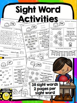 Sight Word Activties