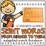 Sight Words Adapted Work Binder® | Grades K-3 Sight Word W