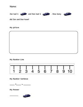 Sight Word Addition Problems