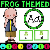 Sight Word -Alphabet- Word Wall Literacy Center Frog Themed (Ready to Edit)