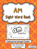 "Sight Word ""Am"" Emergent Reader"