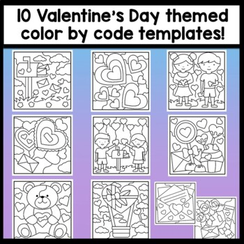 Sight Word Coloring Sheets for Valentine's Day {8 Pages!}