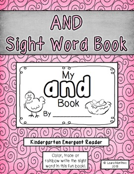 """Sight Word """"And"""" Emergent Reader"""