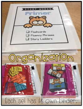 Sight Word Animal Pack: Dolch Words