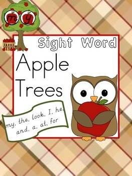 Sight Word Apple Trees