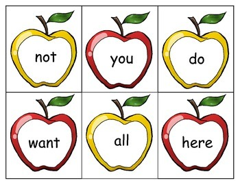 Sight Word Apples