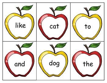 Sight Word Apples