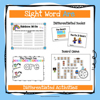 Sight Word Are Activities