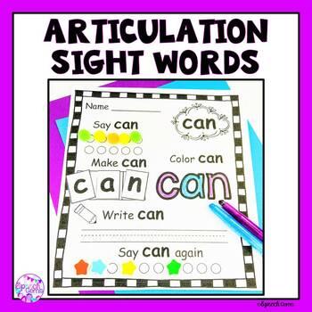 Sight Word Articulation