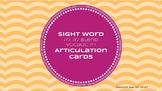 Sight Word Articulation Cards: /r/, /r/ blend, vocalic /r/