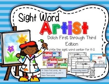 Sight Word Artist--Dolch First to Third Words Read & Write