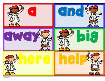 Sight Word Artist-- Dolch Pre Primer & Primer Write the Word Center for K-2