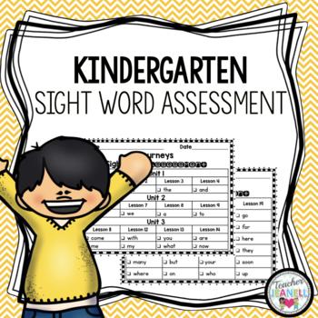 Journeys Sight Word Assessment - Kindergarten Units 1-6